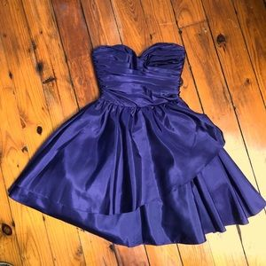 Vintage bet set Johnson 0 purple blue dress formal